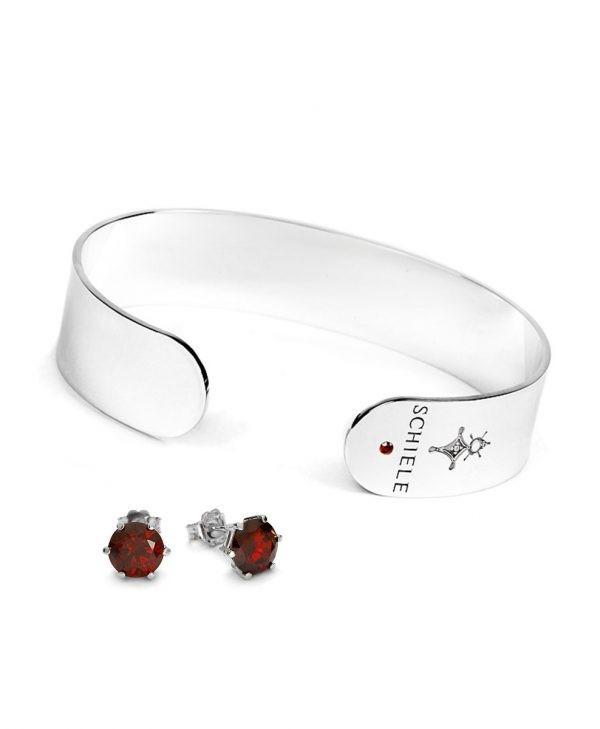 Zestaw HARMONY Rod Diamond Bright czerwona cyrkonia
