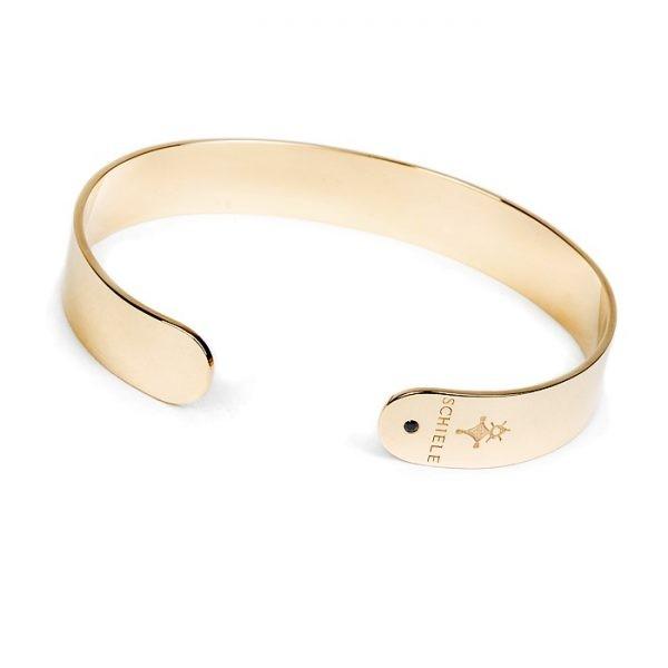 SCHIELE HARMONY wąska bransoletka z czarną cyrkonią złocona