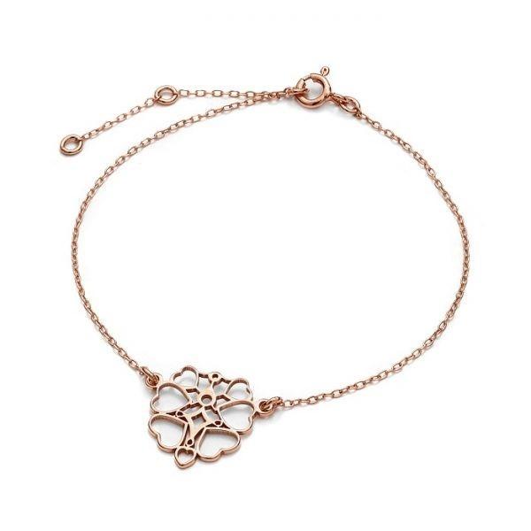SCHIELE Lightness petite bransoletka ażur różowe złocenie