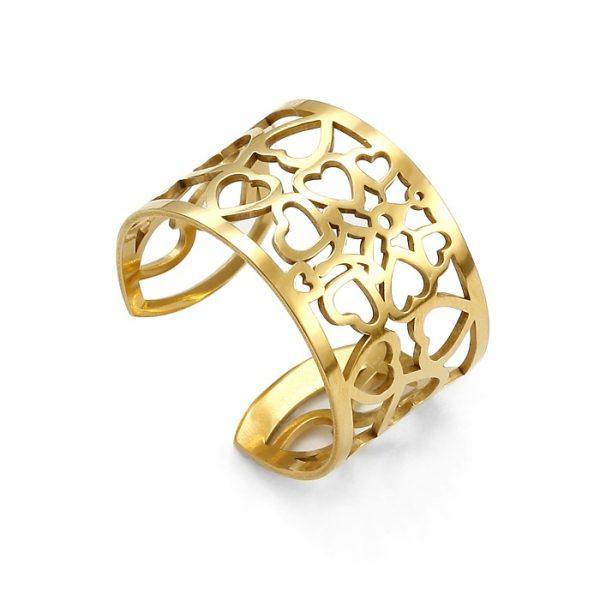 SCHIELE Lightness pierścionek ażur złocony