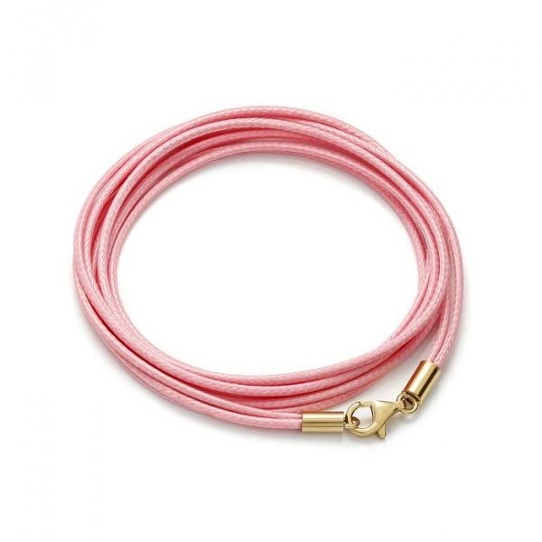 SCHIELE SPORT japoński sznurek LOUXION bransolety długa jasny róż złocenie