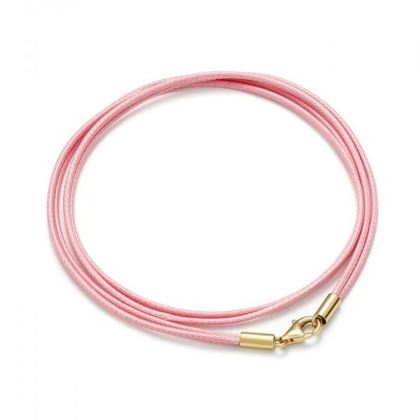 SCHIELE SPORT japoński sznurek LOUXION bransolety długie jasny róż złocenie