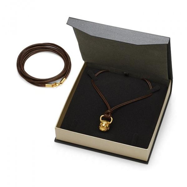 SCHIELE SPORT japoński sznurek LOUXION ciemny brąz w pudełku