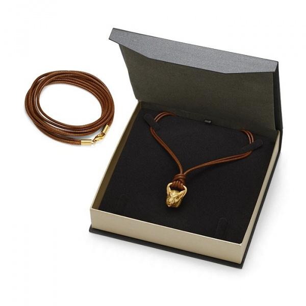 SCHIELE SPORT japoński sznurek LOUXION jasne brąz złocenie z zawieszką