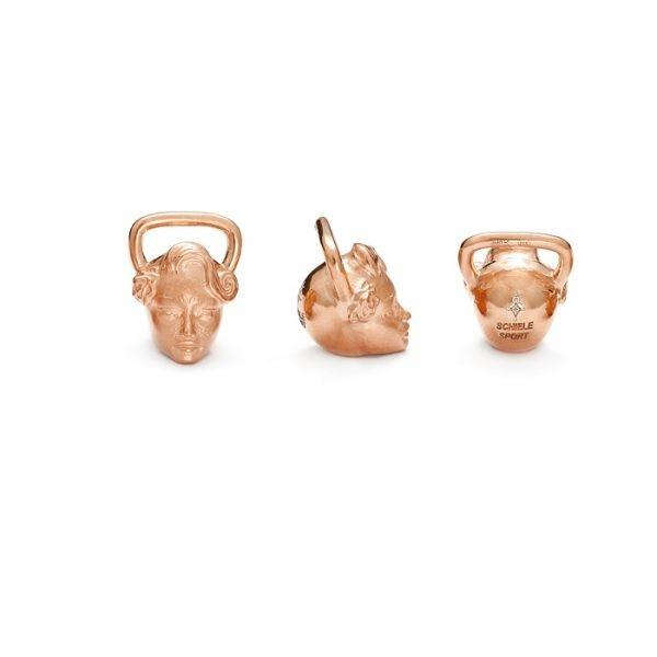 SCHIELE SPORT zawieszka kettlebell SUGAR SKULL różowe złocenie