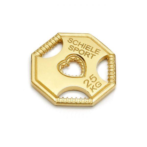 SCHIELE SPORT zawieszka talerz treningowy mały złocony