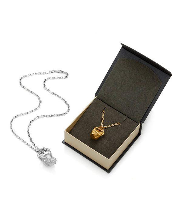 SCHIELE SPORT zawieszka kettlebell duży DZIK na łańcuszkach złocenie i rod w pudełku