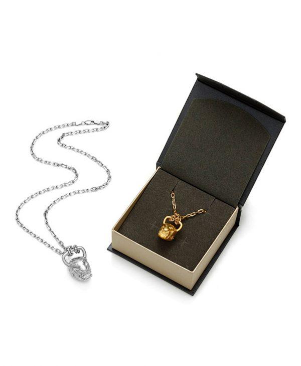 SCHIELE SPORT zawieszka kettlebell duży TIGER rod i złocenie w pudełku