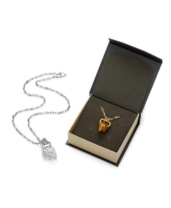 SCHIELE SPORT zawieszka kettlebell duży DRAGON na łańcuszkach złocenie i rod w pudełku