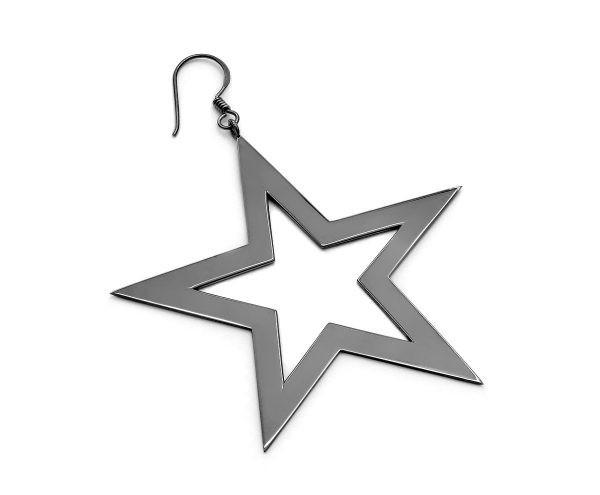 SCHIELE MIX duży kolczyk gwiazda czarny ruten
