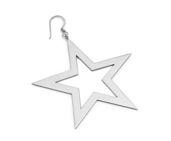 SCHIELE MIX duży kolczyk gwiazda rod