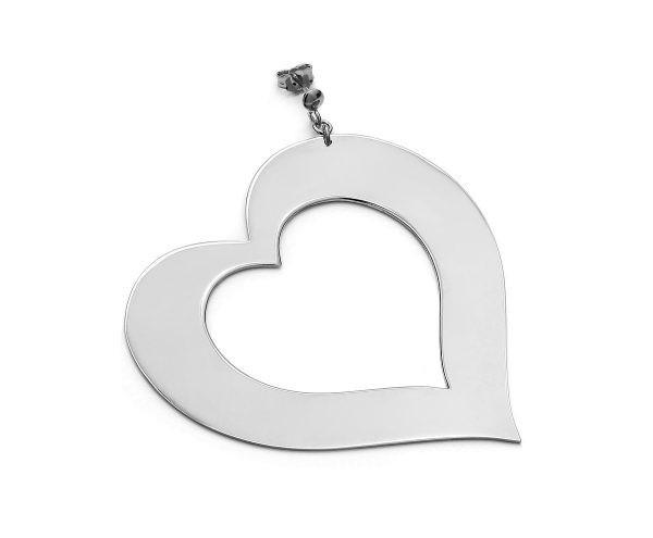 SCHIELE MIX duży kolczyk serce rod
