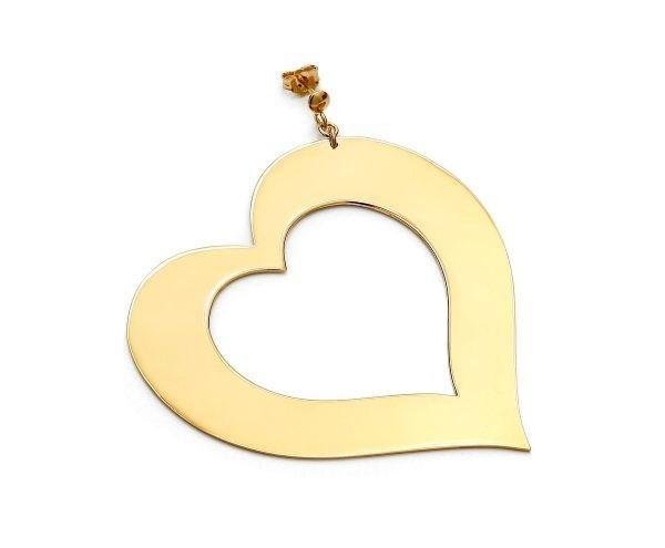 SCHIELE MIX duży kolczyk serce złocenie
