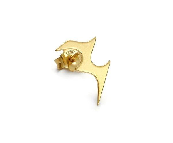 SCHIELE MIX mały kolczyk błyskawica złocony