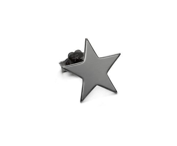 SCHIELE MIX mały kolczyk gwiazda czarny ruten