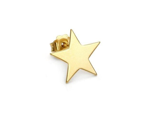 SCHIELE MIX mały kolczyk gwiazda złocony