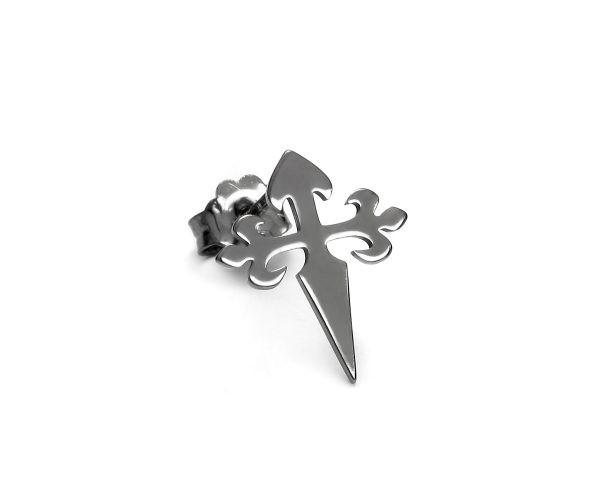 SCHIELE MIX mały kolczyk krzyż czarny ruten