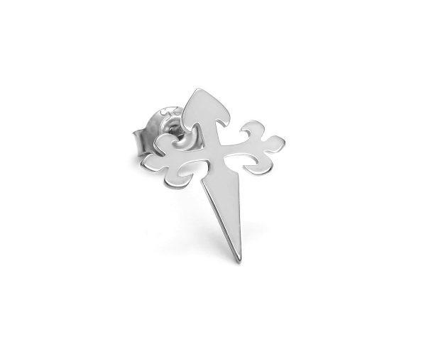 SCHIELE MIX mały kolczyk krzyż Rod Diamond Bright