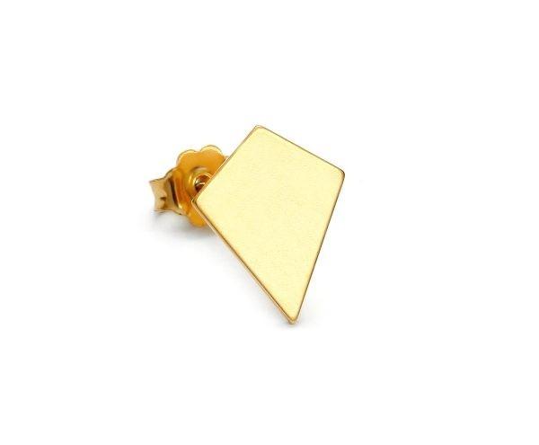 SCHIELE MIX mały kolczyk romb złocony
