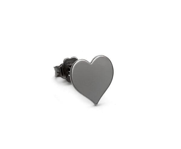 SCHIELE MIX mały kolczyk serce Czarny ruten