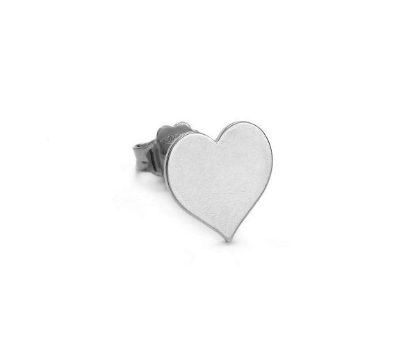 SCHIELE MIX mały kolczyk serce Rod Diamond Bright