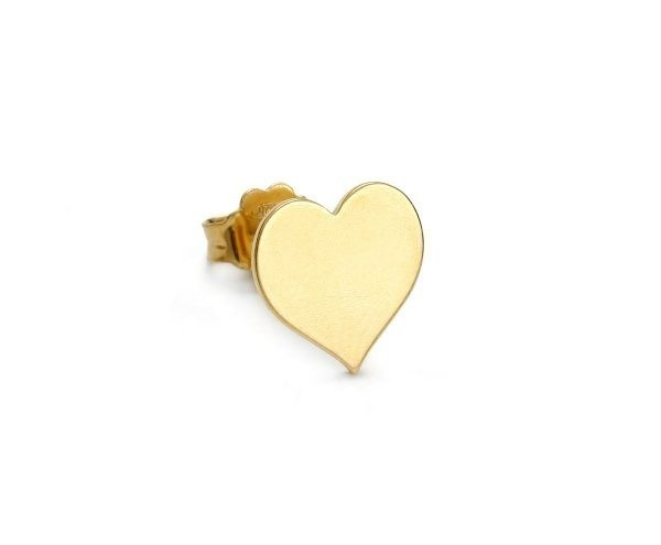 SCHIELE MIX mały kolczyk serce złocony