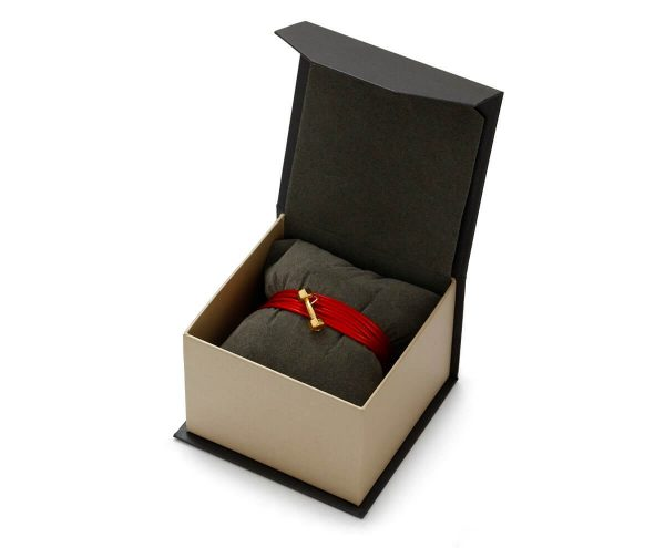 SCHIELE SPORT japoński sznurek LOUXION bransoletą z hantel mały złocenie w pudełku
