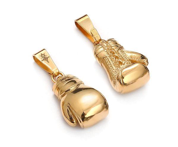 zawieszka rękawice bokserskie żółte złoto