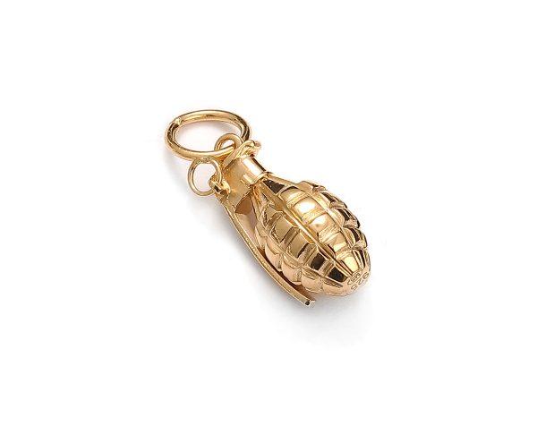 zawieszka granat żółte złoto