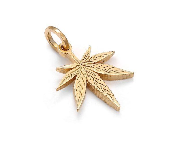 zawieszka liść żółte złoto