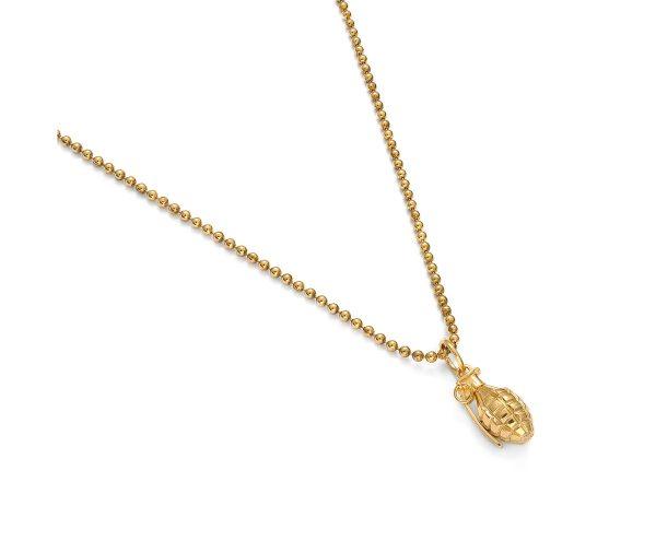 zawieszka granat z naszyjnikiem żółte złoto