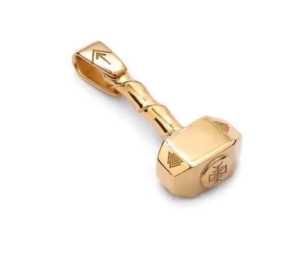 zawieszka młot thora żółte złoto